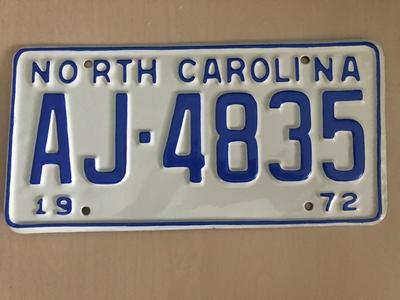 Picture of 1972 North Carolina Car #AJ-4835