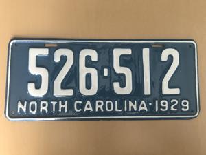 Picture of 1929 North Carolina Car #526-512