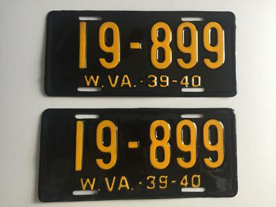 Picture of 1939-40 West Virginia Pair #19-899