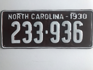 Picture of 1930 North Carolina #233-936