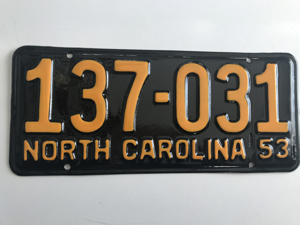 Picture of 1953 North Carolina Car #137-131