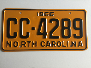 Picture of 1966 North Carolina Car #CC-4289