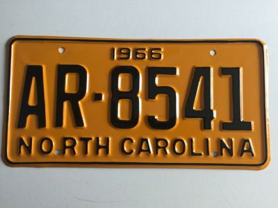 Picture of 1966 North Carolina Car #AR-8541