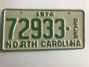 Picture of 1974 North Carolina Dealer #72933