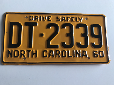 Picture of 1960 North Carolina Car #DT-2339