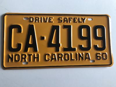 Picture of 1960 North Carolina Car #CA-4199