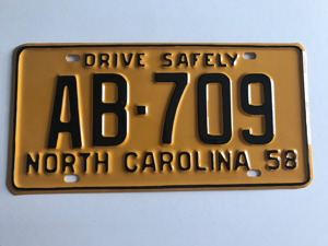Picture of 1958 North Carolina Car #AB-709