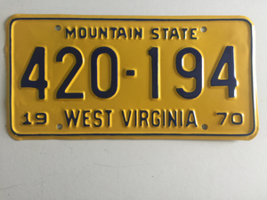 Picture of 1970 West Virginia #420-194