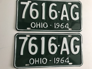 Picture of 1964 Ohio Pair #7616 AG