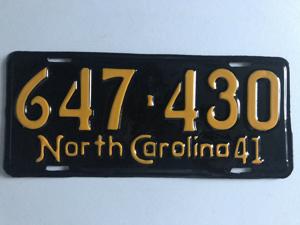 Picture of 1941 North Carolina Car #647-430