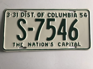 Picture of 1954 District of Columbia #S7546