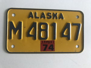 Picture of 1974 Alaska Motorcycle Plate