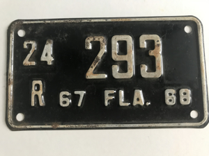 Picture of 1967-68 Florida Motorcycle Plate