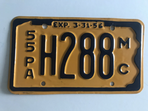 Picture of 1955 Pennsylvania Motorcycle Plate