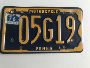 Picture of 1976 Pennsylvania Motorcycle Plate