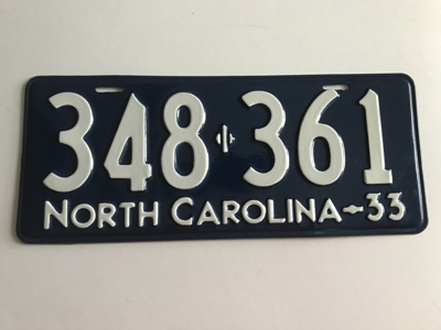 Picture of 1933 North Carolina Car #348-361
