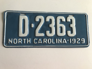 Picture of 1929 North Carolina Dealer #D2363