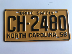 Picture of 1958 North Carolina Car #CH-2480
