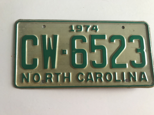 Picture of 1974 North Carolina Car #CW-6523