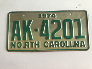 Picture of 1974 North Carolina Car #AK-42-1