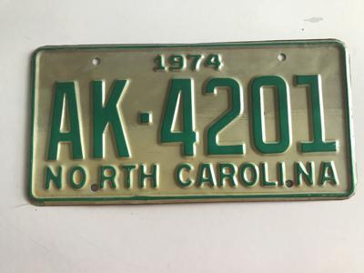 Picture of 1974 North Carolina Car #AK-42-1