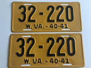 Picture of 1940-41 West Virginia Pair #32-220