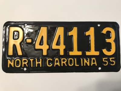 Picture of 1955 North Carolina Car #R-44113