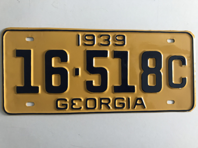 Picture of 1939 Georgia #16-518C