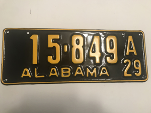 Picture of 1929 Alabama #15-849A
