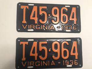 Picture of 1936 Virginia Truck Pair #T45-964
