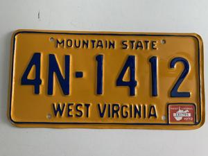 Picture of 1972 West Virginia #4N-1412