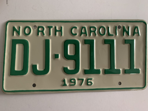 Picture of 1976 North Carolina Car #DJ-9111