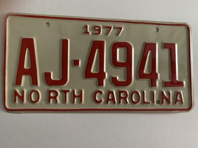Picture of 1977 North Carolina Car #AJ-4941