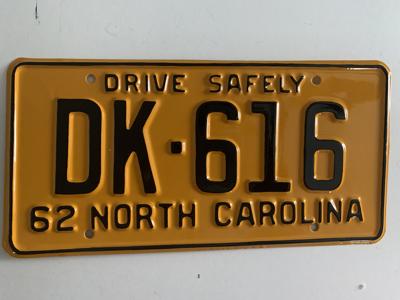 Picture of 1962 North Carolina Car #DK-616