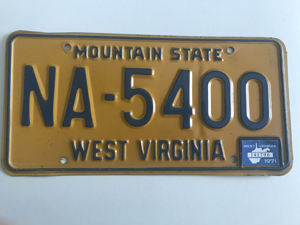 Picture of 1971 West Virginia #NA-5400