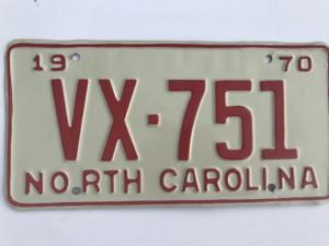 Picture of 1970 North Carolina #VX-751