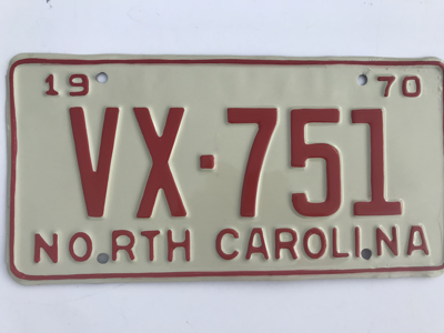 Picture of 1970 North Carolina #VX-751