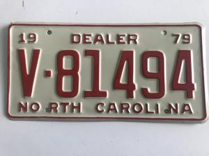 Picture of 1979 North Carolina Dealer #V81494