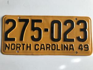 Picture of 1949 North Carolina Car #275-023