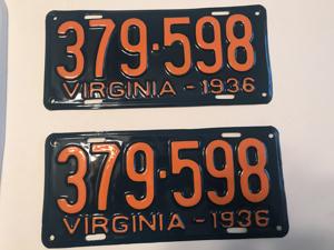Picture of 1936 Virginia Car Pair #379-598