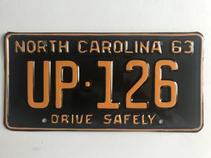 Picture of 1963 North Carolina Car #UP-126