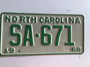 Picture of 1969 North Carolina Car #SA-671